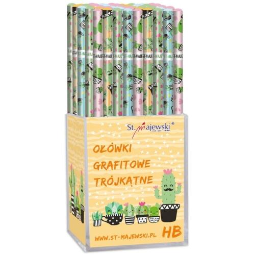 Kaktusz háromszög HB grafit ceruza