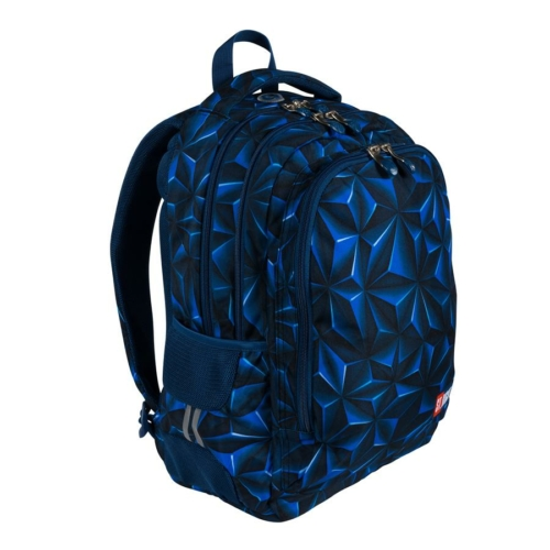 St.Right - 3D Navy Abstraction hátizsák, iskolatáska - 3 rekeszes