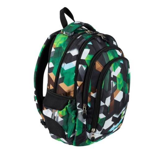 St.Right - Green 3D Blocks hátizsák, iskolatáska - 4 rekeszes