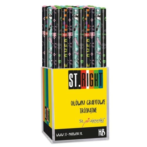 St.Right háromszög HB grafit ceruza