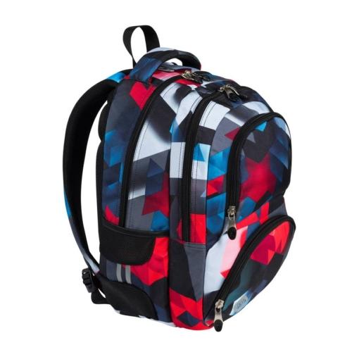 St.Right - Red 3D Blocks hátizsák, iskolatáska - 4 rekeszes