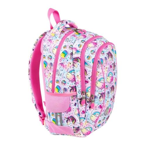 St.Right - Sweet & Pink iskolatáska, hátizsák - 3 rekeszes