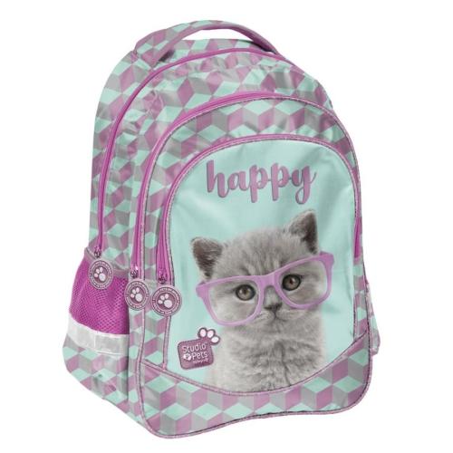 Studio Pets hátizsák, iskolatáska - 3 rekeszes - Happy (PTF-181)