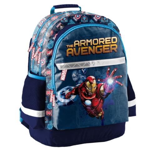 Avengers - Bosszúállók iskolatáska, hátizsák - 3 rekeszes - The Armored Avenger (AIN-116)