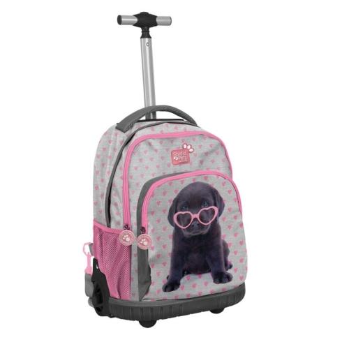 Studio Pets gurulós hátizsák, iskolatáska - Kutyusos