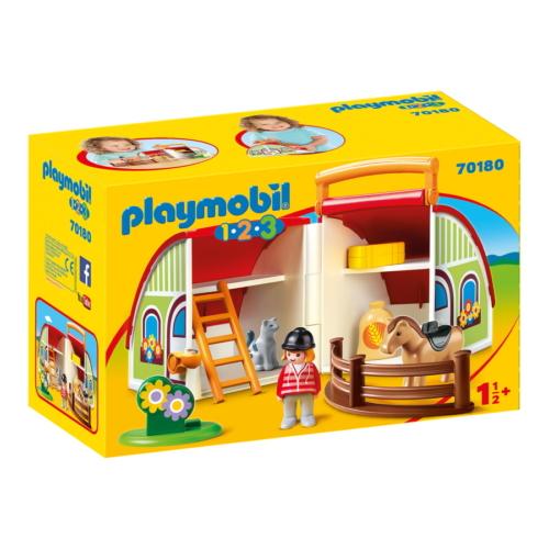 Playmobil 1.2.3 - Hordozható lovardám játékszett