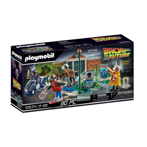Playmobil - Back to the Future - Vissza a jövőbe II - Légdeszkás üldözés játékszett