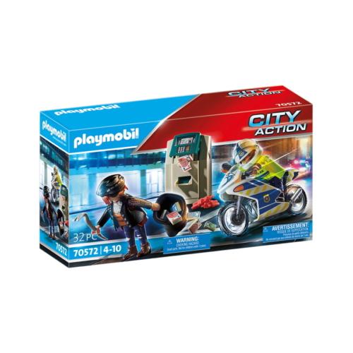 Playmobil - City Action - Rendőrségi motor - Pénztolvaj nyomában játékszett
