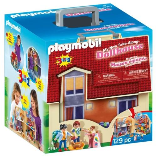 Playmobil Dollhouse - Hordozható családi ház játékszett