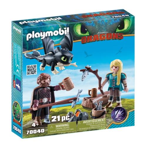 Playmobil - Így neveld a sárkányodat - Hablaty és Astrid bébisárkánnyal játékszett