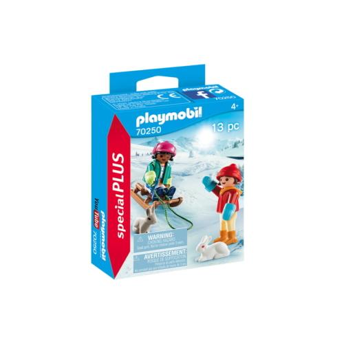 Playmobil - Special Plus - Szánkózó gyerekek játékszett