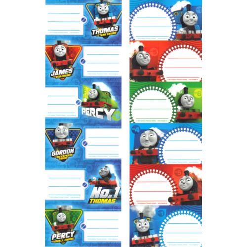 Thomas és barátai 6 db-os füzetcímke (260682)