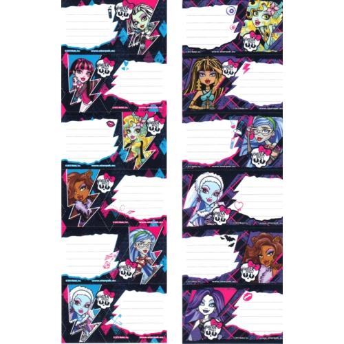 Monster High 6 db-os füzetcímke (282713)