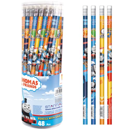 Thomas és barátai HB grafit ceruza radírral (298334)