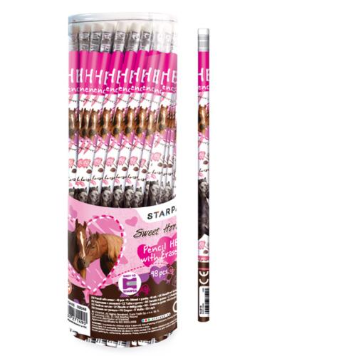 Sweet horses HB grafit ceruza radírral (313405)
