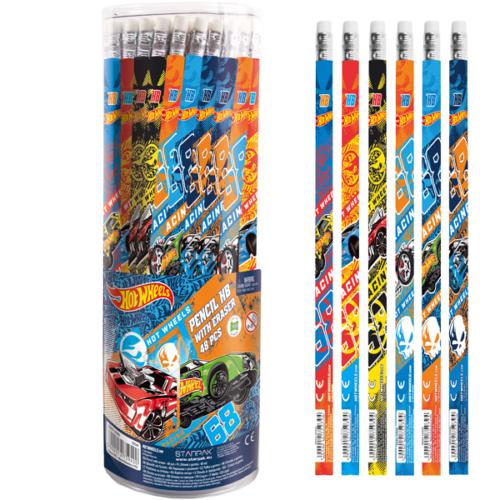 Hot Wheels HB grafit ceruza radírral (342830)
