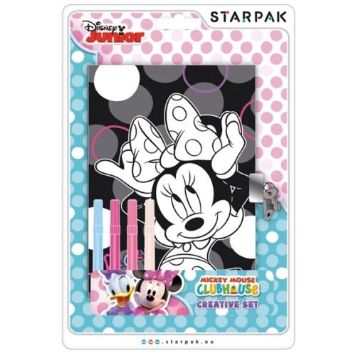 Minnie Mouse színezhető napló filctollal 12,7 x 17,8 cm (350360)