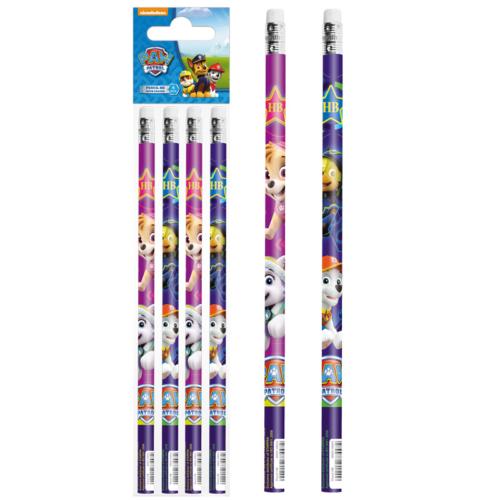 Mancs őrjárat grafit ceruza radírral - 4 db-os (352892)