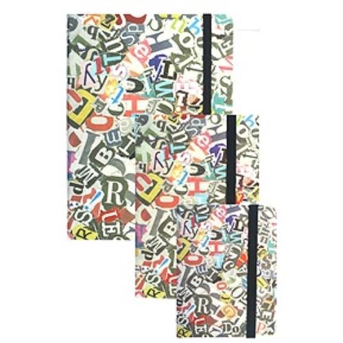 Betűk gumis napló 15 x 20 cm (353148)