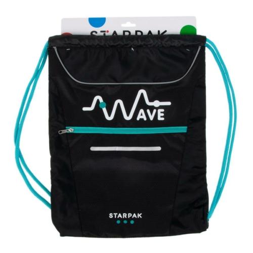 Wave zsinóros hátizsák, tornazsák - Green (356971)