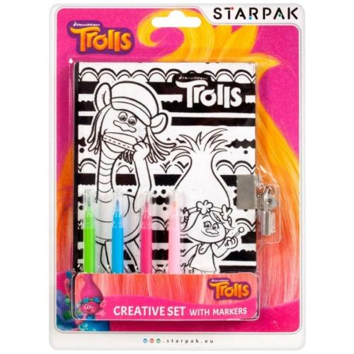 Trollok színezhető napló filctollal 12,7 x 17,8 cm (363593)
