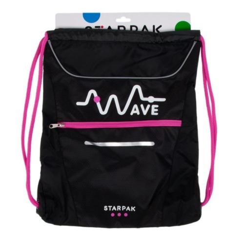 Wave zsinóros hátizsák, tornazsák - Pink (373486)