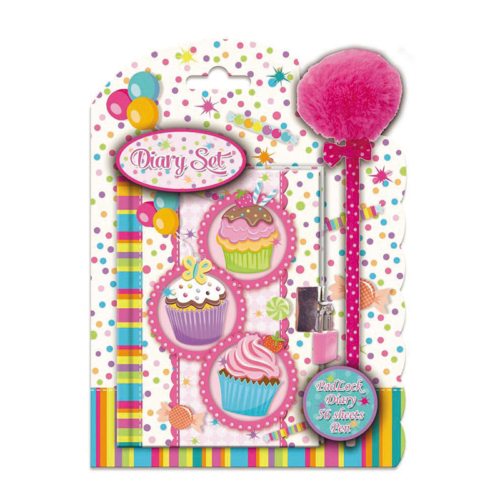 Muffin kulcsos napló tollal 11 x 15 cm (393307)