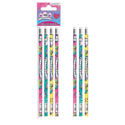 Hatchimals grafit ceruza radírral - 4 db-os (405409)