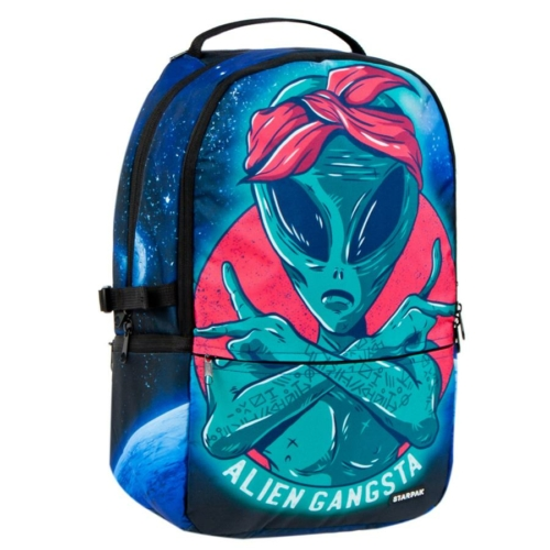 Alien Gangsta 2 rekeszes hátizsák, iskolatáska