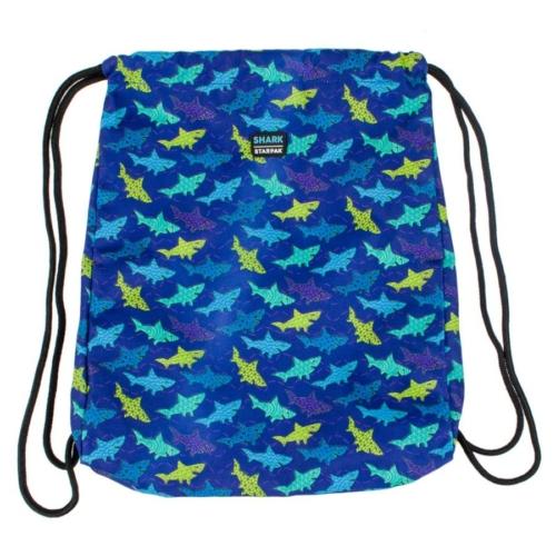 Shark zsinóros hátizsák, tornazsák - Cápás