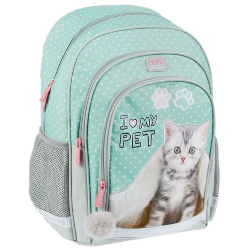 Cicás ergonomikus iskolatáska, hátizsák - I love my pet