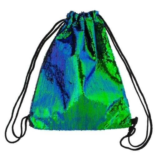 Flitteres zsinóros hátizsák, tornazsák