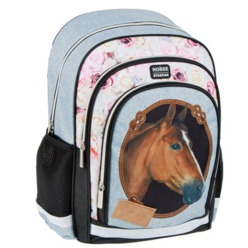 Lovas ergonomikus iskolatáska, hátizsák - Horse