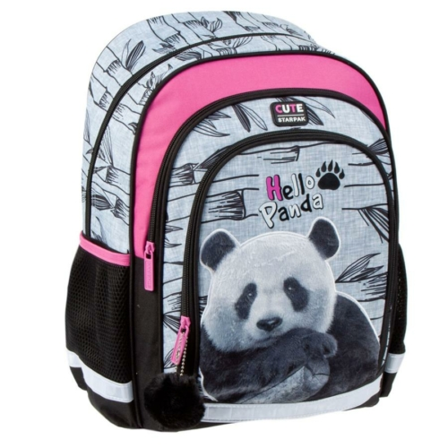 Pandás ergonomikus iskolatáska, hátizsák - Hello Panda