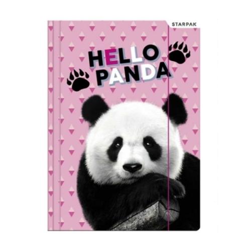 Pandás A/4 gumis mappa - Hello Panda - pink