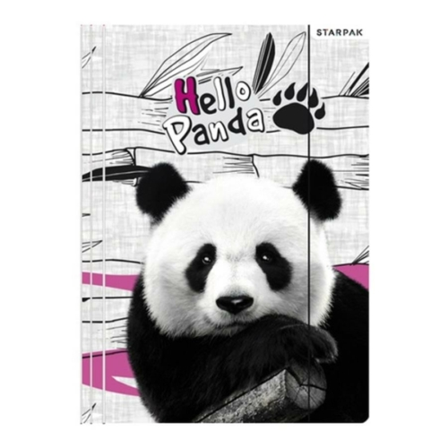Pandás A/4 gumis mappa - Hello Panda