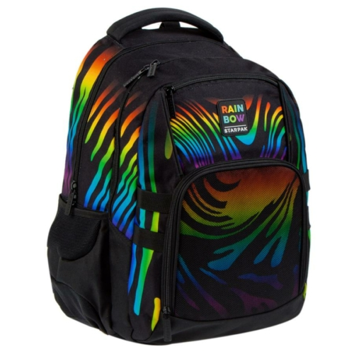 Szivárványos ergonomikus hátizsák, iskolatáska mellpánttal  - Rainbow