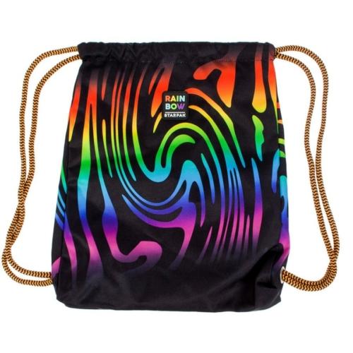 Szivárványos zsinóros hátizsák, tornazsák - Rainbow
