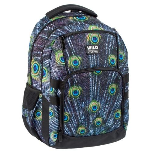 Wild ergonomikus hátizsák, iskolatáska mellpánttal - 4 rekeszes