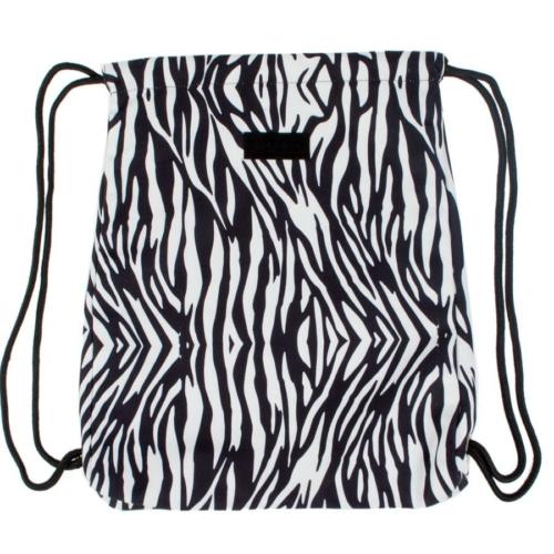 Zebra mintás zsinóros hátizsák, tornazsák
