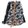 Kép 1/3 - BackUp 2in1 mini vászon hátizsák - Ginkgo levél