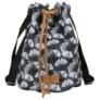 Kép 2/3 - BackUp 2in1 mini vászon hátizsák - Ginkgo levél