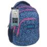Kép 1/4 - BackUp iskolatáska, hátizsák - 4 rekeszes - Kék virágok (PLB1A14)