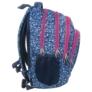 Kép 2/4 - BackUp iskolatáska, hátizsák - 4 rekeszes - Kék virágok (PLB1A14)
