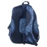 Kép 3/4 - BackUp iskolatáska, hátizsák - 4 rekeszes - Kék virágok (PLB1A14)
