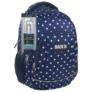 Kép 1/4 - BackUp iskolatáska, hátizsák - 4 rekeszes - Fehér csillagok (PLB1A25)