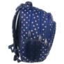 Kép 2/4 - BackUp iskolatáska, hátizsák - 4 rekeszes - Fehér csillagok (PLB1A25)