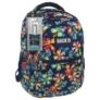 Kép 1/5 - BackUp iskolatáska, hátizsák - 4 rekeszes - Trópusi virágok (PLB1B2)