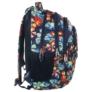 Kép 2/5 - BackUp iskolatáska, hátizsák - 4 rekeszes - Trópusi virágok (PLB1B2)