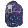 Kép 1/5 - BackUp iskolatáska, hátizsák - 3 rekeszes - Színes karikák (PLB1D18)